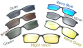 Magnetic Sunglasses Clip On with Colorful Revo Polarized Lenses For 5510