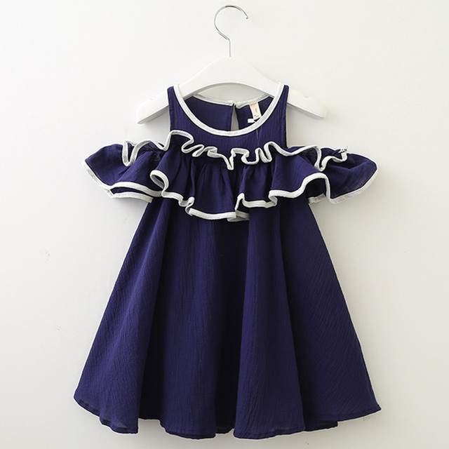 Girls' Casual Sleeveless Polyester Dress