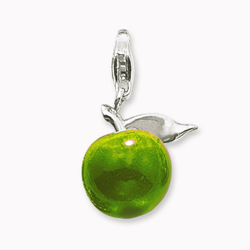 Muffiy Brand Silver Color Green Apple Charms for Bracelet Necklace Glam Casual Women Jewelry Trendy Peace Wanita Cantik Bijoux
