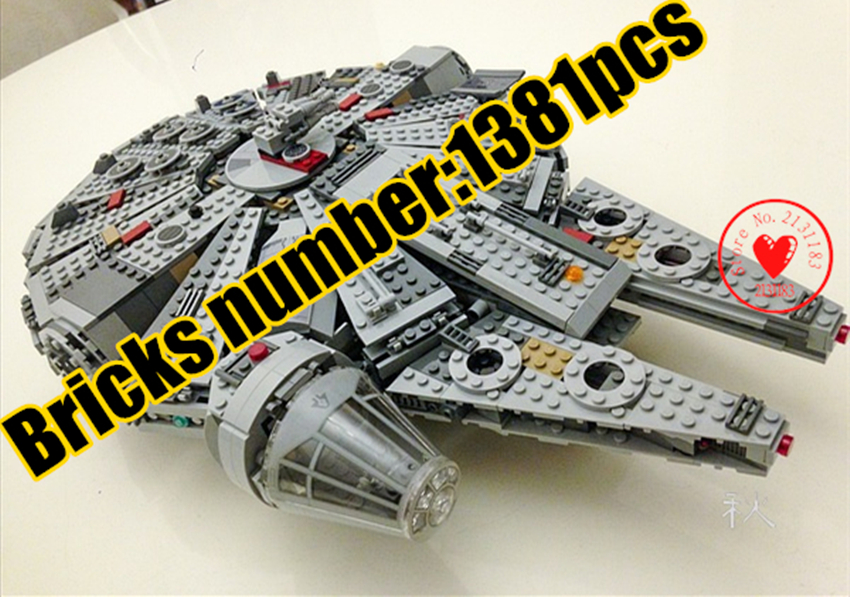 New Force Awakens Building Blocks bricks fit legoings star wars Millennium Falcon figures fit 10467 kid boy gift diy Toys игровой набор mattel star wars tie fighter vs millennium falcon 2 предмета cgw90