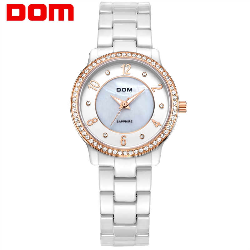 DOM women luxury brand watches waterproof style quartz ceramic nurse watch reloj hombre marca de lujo T-558 dom mens watches top brand luxury waterproof leather man nurse reloj hombre marca de lujo men watch m3211