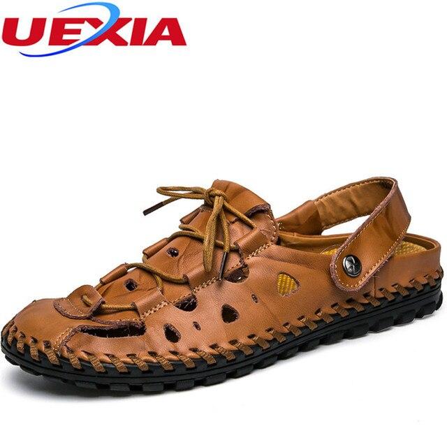 583c706c1224ac 2017 Summer Fashion Men Sandals Beach Mens Dress Flats Causal Sandals  Breathable Men s Shoes Handmade Soft