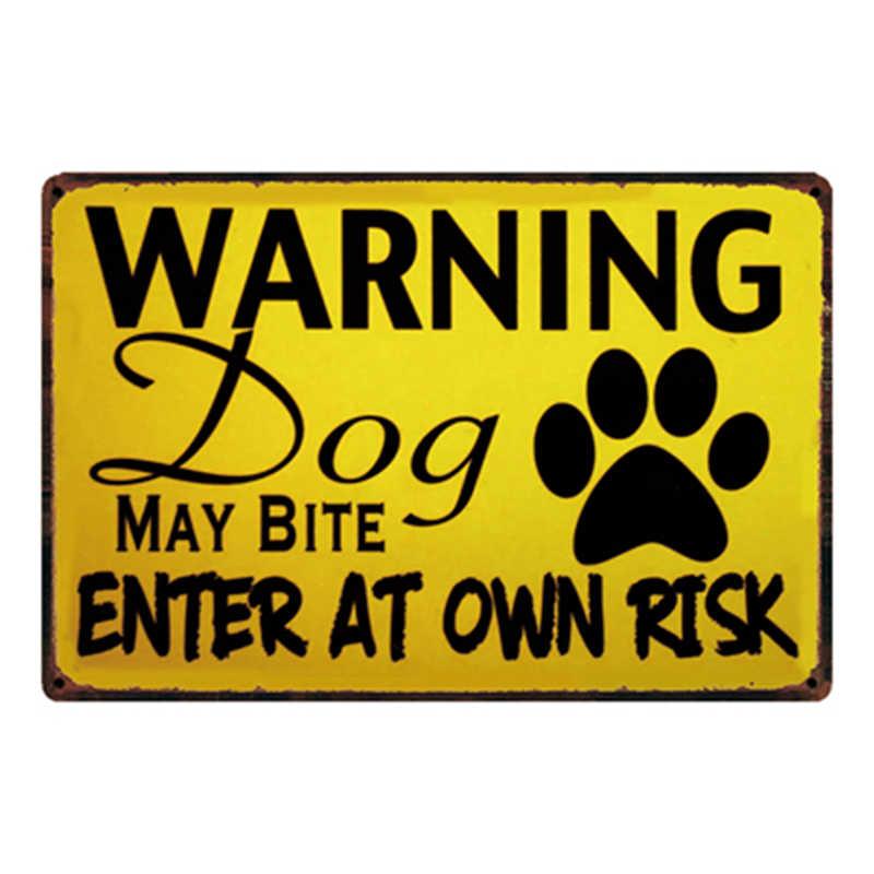 [Kelly66] الكلاب تحذير المعادن علامة القصدير المشارك ديكور المنزل بار جدار الفن اللوحة 20*30 CM حجم y-2111