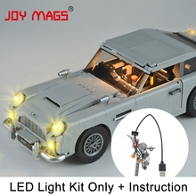 JOY MAGS Led Light Kit (Only Light Set) For Creator James Bond Aston Martin DB5 Light Set Compatible With 10262 julite led light kit only light included for lego 60051 compatible with 02010 cities high speed passenger train