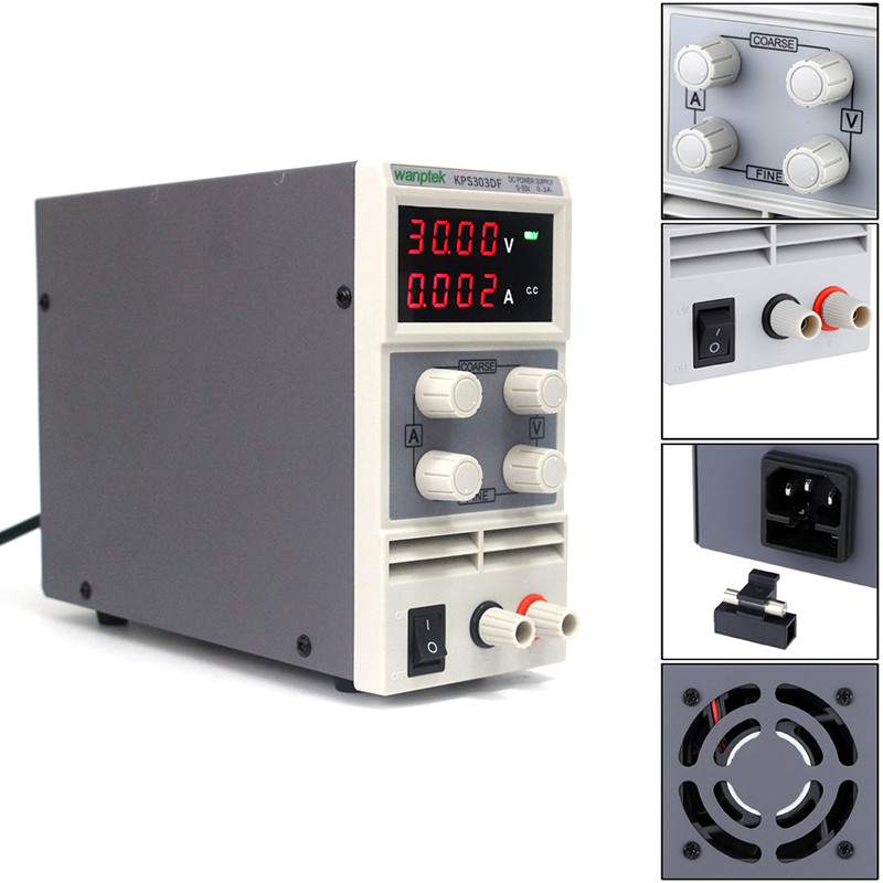 Voltage regulator adjustable DC power supply 30V 3A 110V-220V 0.01V/0.001A LED display Digital laboratory DC Power Supply SMPS four digit display rps3003c 2 adjustable dc power supply 30v 3a linear power supply repair