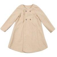 Зима 2018 детская одежда newstyle осень-зима для девочек верхняя одежда для детей плащ Куртка теплое пальто одежда для малышей QC3
