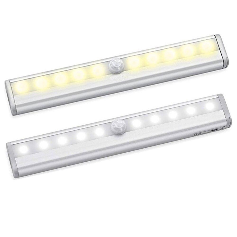 Portable Wall Lights: 10 LEDs IR Motion Sensor Night Light Battery Powered