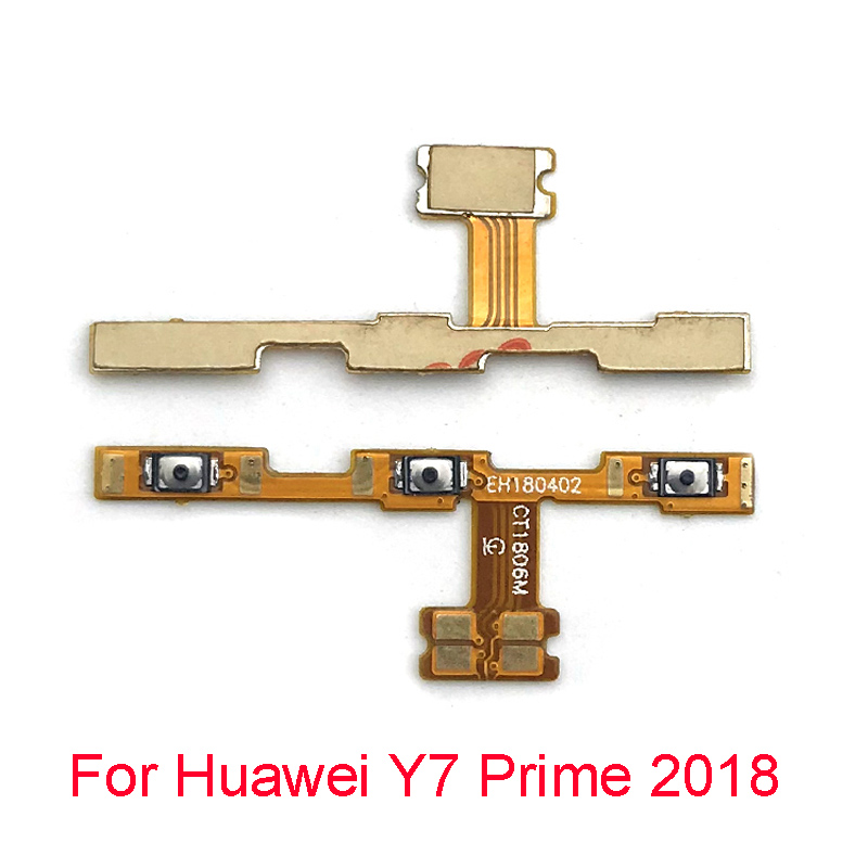 New Power On Off Volume Side Button Key Flex Cable For Huawei Y7 Prime 2018 Replacement Parts