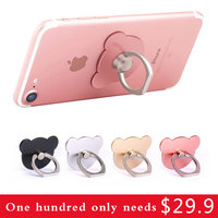 mini cute bear Finger Ring mobile phone holder stand for iPhone huawei samsung support Smartphone telephone accessories grip