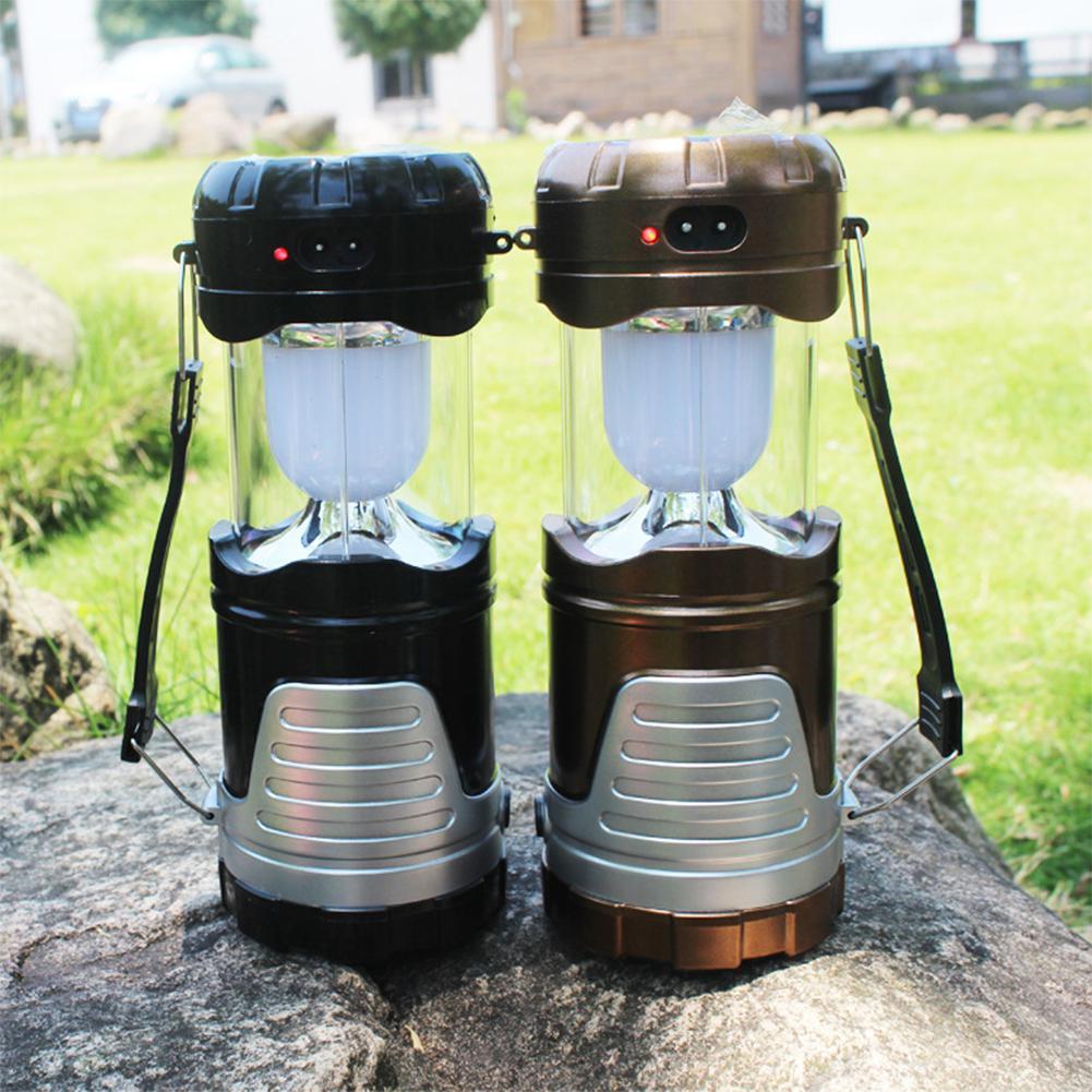 HobbyLane Handhold LED Camping Lamp Solar-powered Emergency Tent Light for Outdoor Activities Night Light