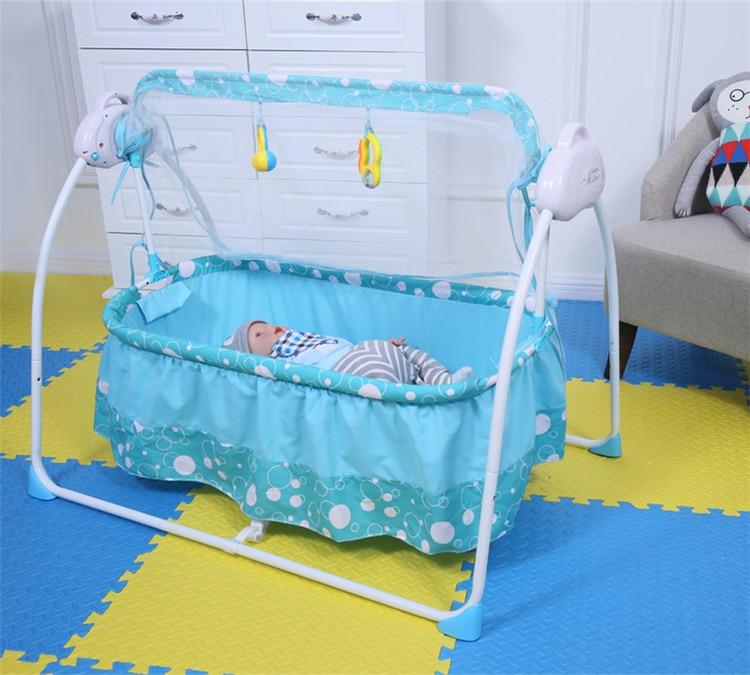 Berceau électrique de bébé de berceau de bébé de mode avec des moustiquaires lit multifonctionnel de berceau de musique de bébé