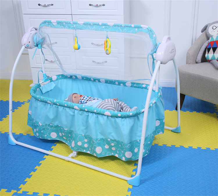 Fashion Electric Baby Crib Baby Cradle With Mosquito Nets Multifunctional Music Baby Cradle Bed bed cradle musical carousel by mobile bed bell support arm cradle music box with rope automatic carillon music box