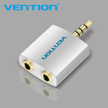 Vention 3.5mm Earphone Audio Splitter Connecter Adapter with mic 1 Male to 2 Female For Headphone PC Mobile Phone