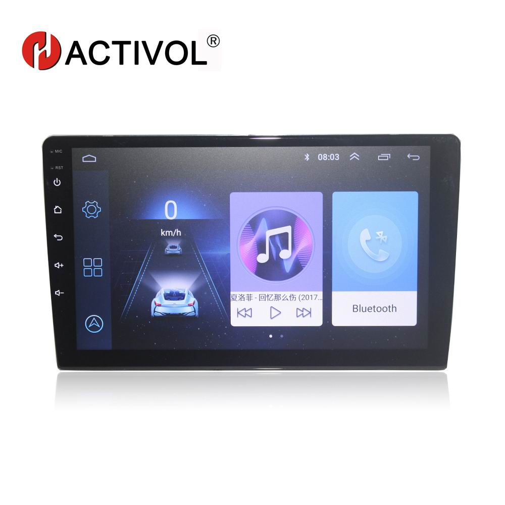 HACTIVOL Car-Radio Dvd-Player Interchangeable Universal Android 8.1 2-Din 2G 0 for 9-Gps
