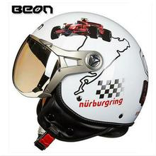 2016 New Fashion personality BEON motorcycle half face helmet Four season electric bicycle Retro Air force helmets B-100 helmet
