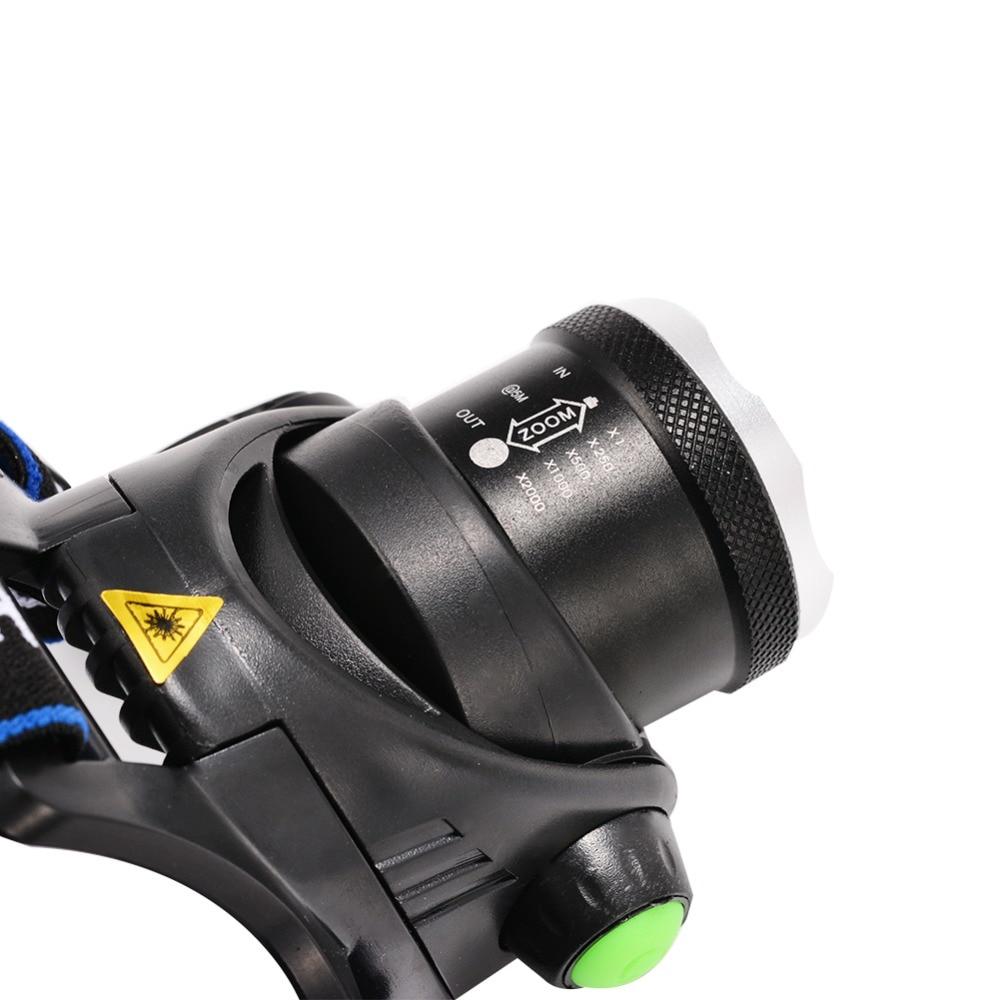 Ыстық HP79 Head light Т6 бас лампасы 3000LM - Портативті жарықтандыру - фото 4