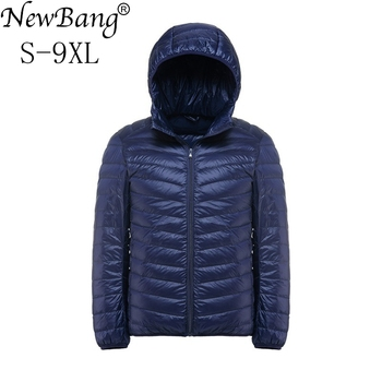 NewBang Brand Plus 9XL 8XL 7XL Down Coat Male Ultra Light Down Jacket Men Windbreaker Feather Portable Lightweigt Winter Parka Down Jackets