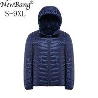 NewBang Plus 6XL 5XL Men Down Jacket Ultralight Down Jacket Men Windbreaker Feather Parka Man Winter