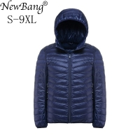 NewBang Plus 6XL 5XL Men Down Jacket Ultralight Down Jacket Men Windbreaker Feather Parka Man Winter