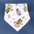 Baby Bibs High Quality Triangl Double Layers Cotton Baberos Cartoon Print Baby Bandana bibs Babador Dribble Bibs Bavoir bavette