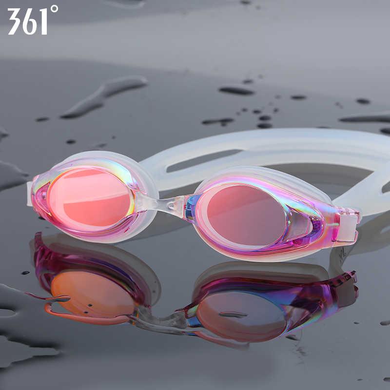 361 Mirrored Swim Goggle Adult Swimming Goggles Anti Fog Swim Glasses Silicone Waterproof Men Women Kids Swim Eyewear with Case