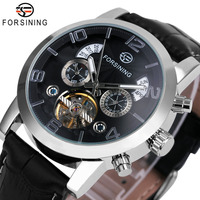 Top Luxury WINNER Men S Automatic Watches Genuine Leather Strap Male Tourbillon Mechanical Wrist Watches Big