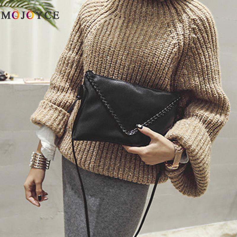 Women Soft PU Leather Shoulder Bag Solid Black Crossbody Bag Vintage Lady Clutch Handbag bolsa feminina new arrival 2017 brand pu leather women handbag soft pu leather shoulder bag fashion solid zipper women bag
