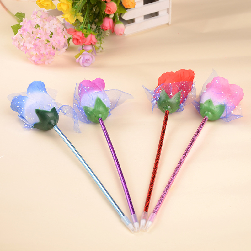 Creative New Office Stationery Wholesale Rose Ball Point Pen Gift Pen