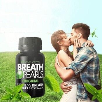 Australia Breath Pearls Original Freshens Breath 150 SOFTGELS Peppermint Parsley Flavour for Long Lasting Fresh Breath фото