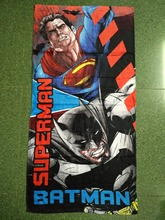 60*120cm Cartoon SUPERMAN and BATMAN Towels baby bath towel Children Beach Bath Towel Cartoon