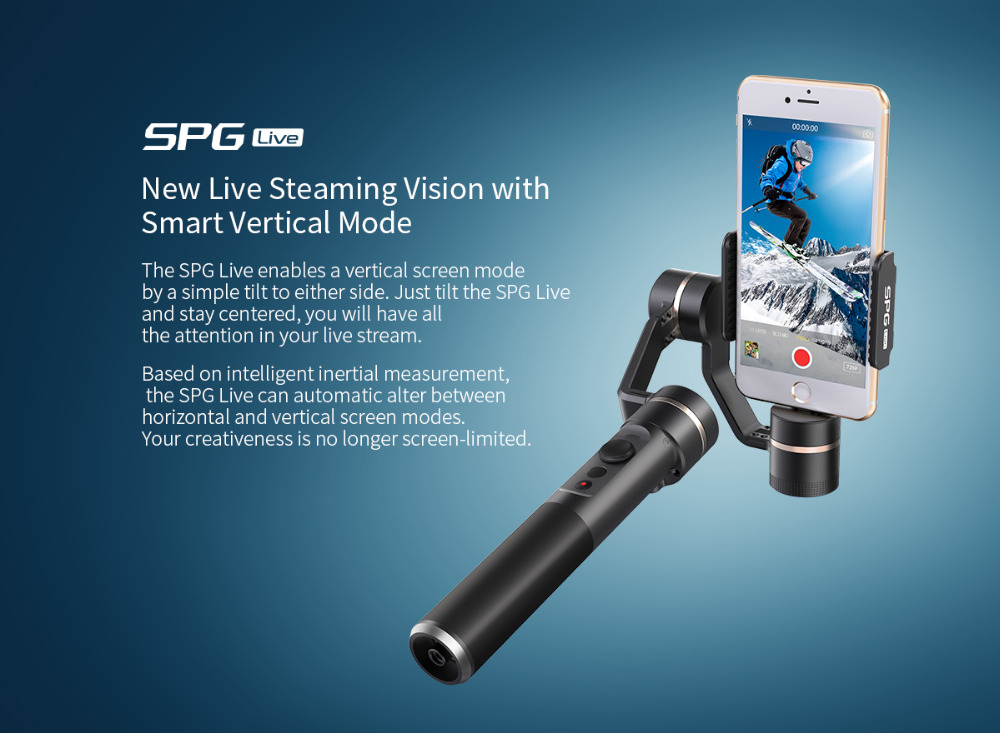 F19117 FY Feiyu SPG Live 3 Axis 360 degree Limitless Handheld Gimbal Stabilizer For Smart phones Cellphone