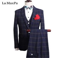 La MaxPa Jacket Pants Vest Fashion Men Suit Custom Made Wedding Suit For Man Slim Fit
