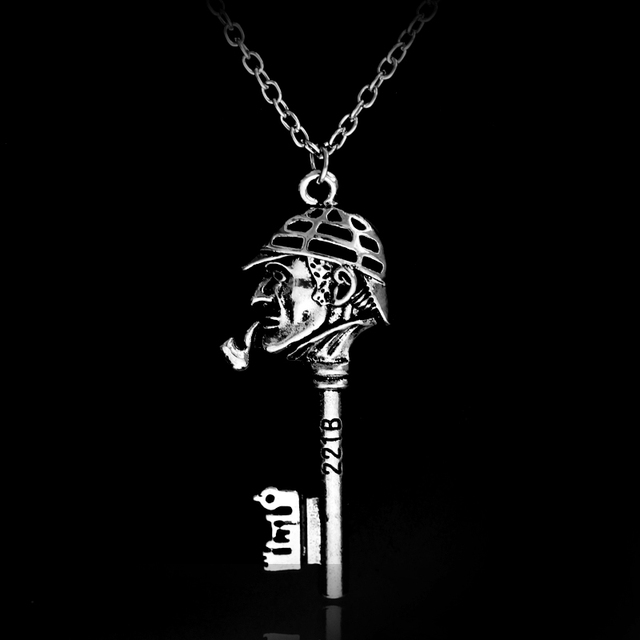 Movie Jewelry Sherlock Figure the key to 221B Door Pendant Necklace Antique Silver Vintage Necklace Collier  sc 1 st  AliExpress.com & Movie Jewelry Sherlock Figure the key to 221B Door Pendant Necklace ...