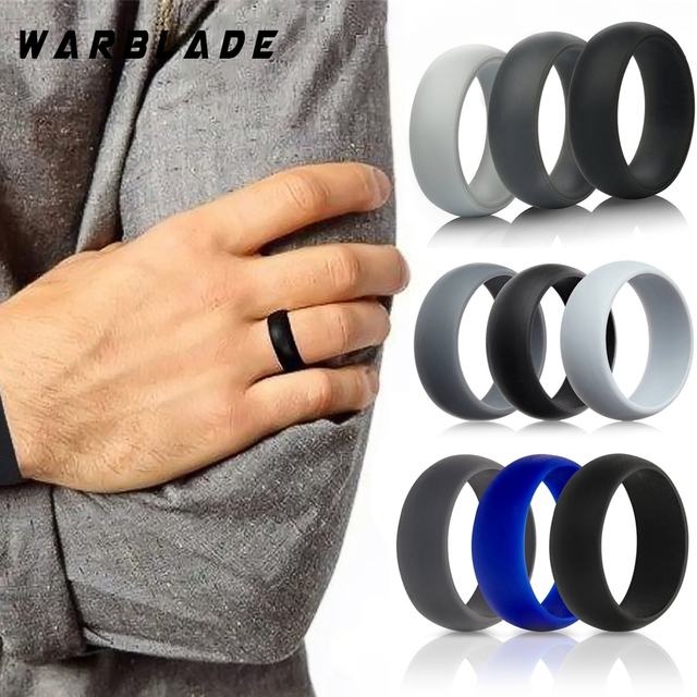WBL 6-12 Size Hypoallergenic Flexible Food Grade FDA Silicone Finger Ring Environmental Rubber Rings For Men Women 3pcs/set