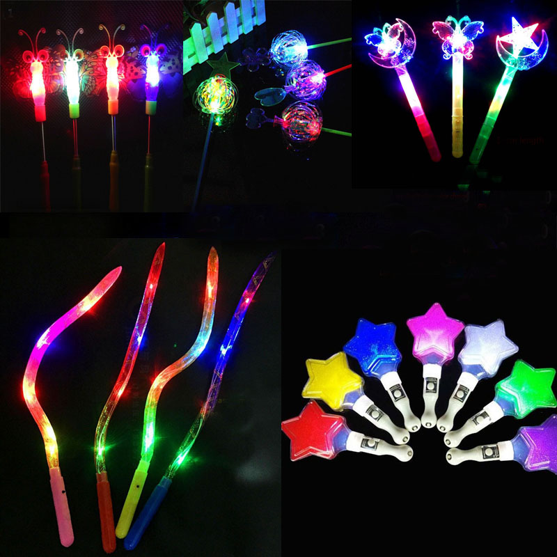 Costumes & Accessories Novelty & Special Use New Fashion Children Girls Princess Led Light Up Butterfly Magic Wand Sticks Flashing Glowing Sticks Party Cosplay Costume Props Halloween