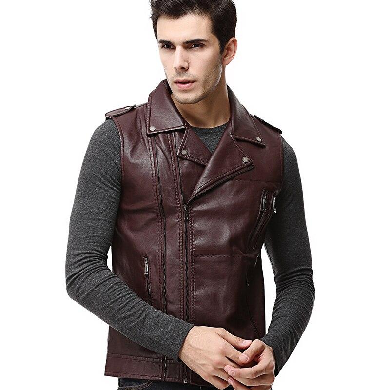 Jacket Coat Motorcycle Casual Sleeveless Slim Fashion Men's