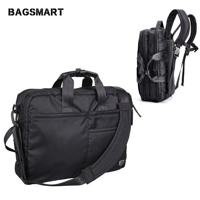 BAGSMART Multifunction Men Laptop Backpack Black Laptop Bag For 14-17 Inch Computer Polyester Laptop Backpack Bag Travel Bags
