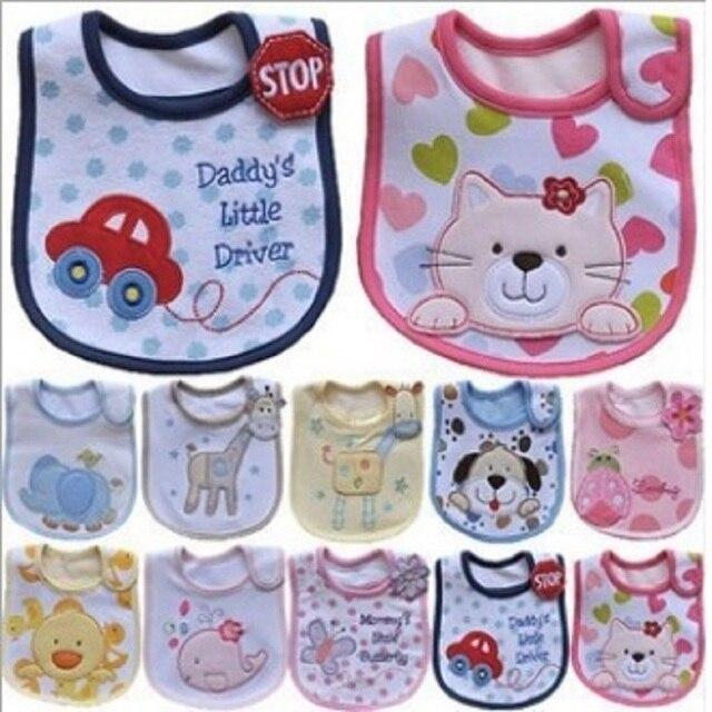 H Baby Bib Pinafore 3 Layers Waterproof Bib Terry Newborn Burp Cloth Saliva Towels babador bandanas Scarf