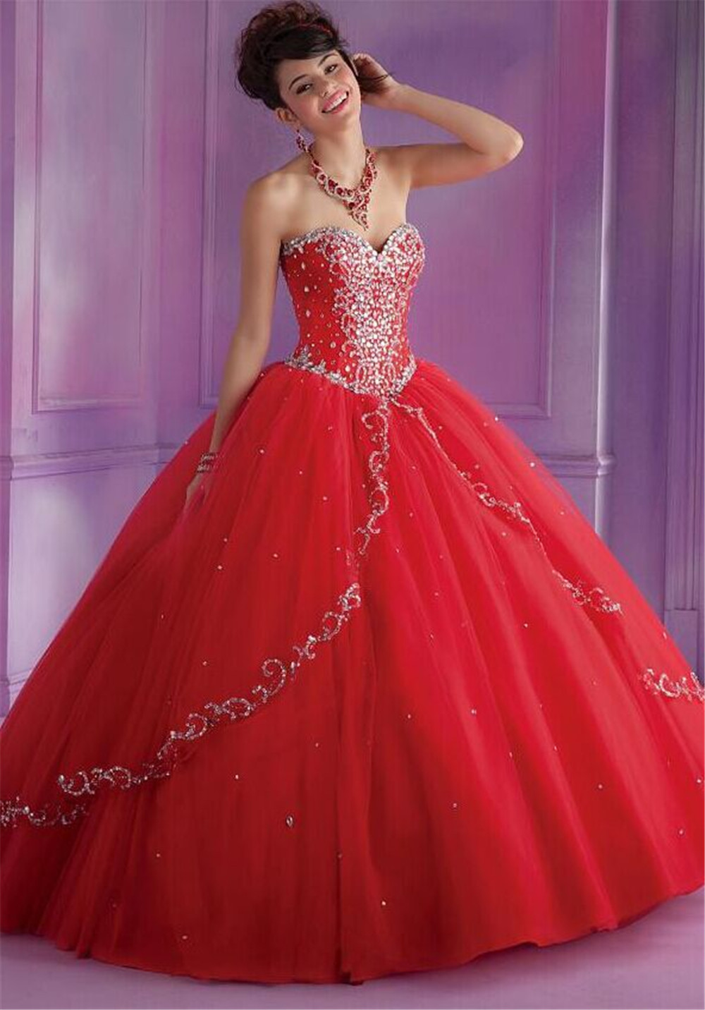 Best Selling 2015 Coral Quinceanera Dresses for Sweet 16 Girls ...