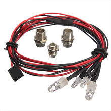 SEKINEW New Style RC On-Road Car LED Night 5mm White And 3mm Red Headlamps 4 LED Light Interior