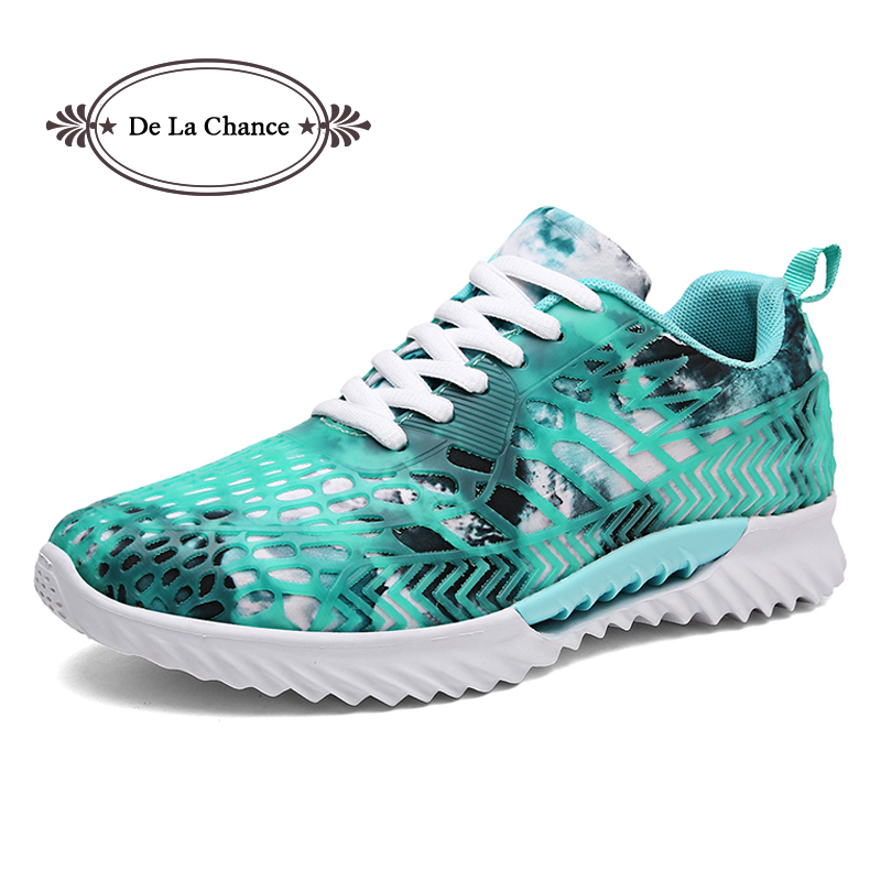 DE LA CHANCE 2018 Women Casual Shoes Woman Mesh Fashion Summer Shoes Women Sneakers Vulcanize Shoes Zapatos Mujer Feminino de la chance 2018 new fashion women casual shoes adults colorful women s flats shoes woman breathable harajuku flat plus size