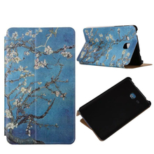 Tablet Case For Samsung Galaxy Tab A 7.0 T280 PU Leather Case Flip Shockproof Flower Print Stand Case Smart Cover Anti-dust Skin