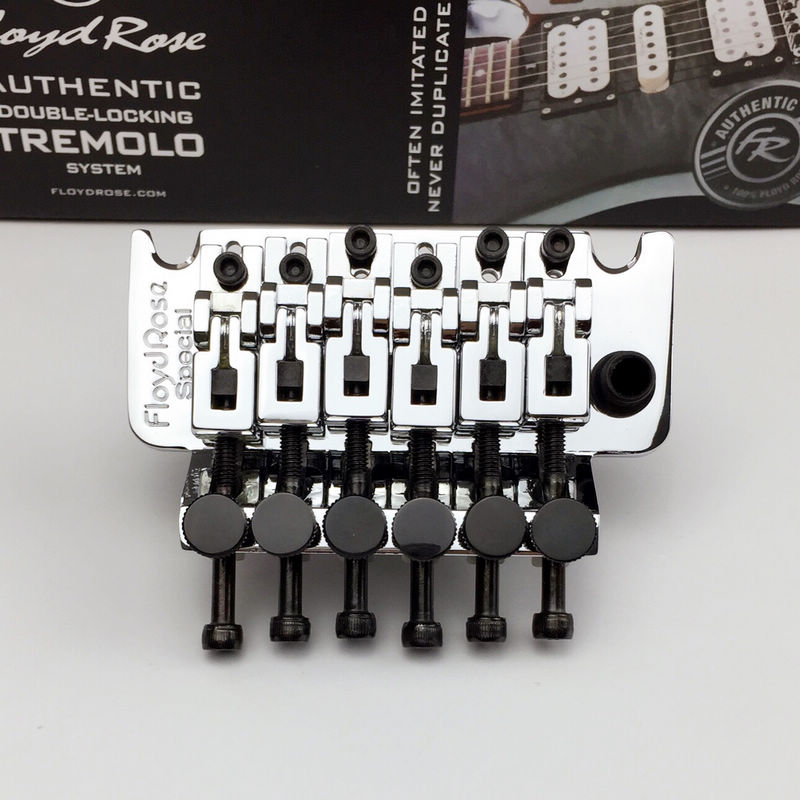 Double swing bridge Floyd Rose Special Series FRTS1000 Tremolo System Bridge With R3 Nut Chrome new floyd rose special frs5000 tremolo black tremolo