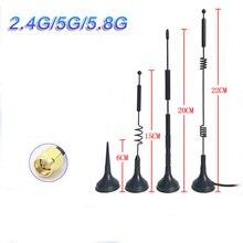 2.4 G5G 5.8G Dual frequenza Piccola ventosa Anten 12dBi di định tuyến không dây SMA omnidirezionale sau Công Nguyên Alto guadagno ăng ten wifi