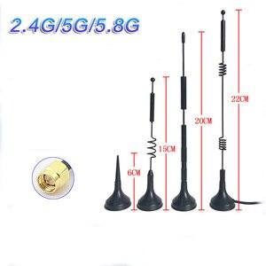 Image 1 - 2.4 G5G 5.8G dual frequenza piccola ventosa antenne 12dbi di routing draadloze SMA omnidirezionale ad alto guadagno antenne wiFi