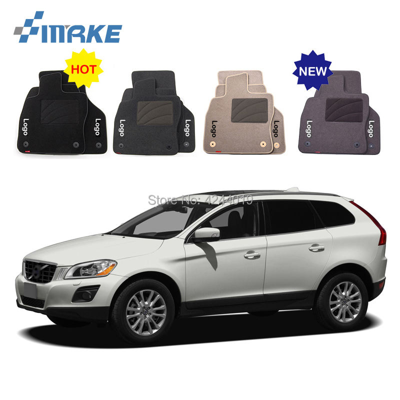 For Volvo XC60 Car Floor Mats Front Rear Carpet Complete Set Liner All Weather Waterproof Customized Car Styling for honda fit car floor mats front rear carpet complete set liner all weather waterproof customized car styling