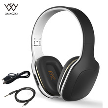 цена на Wireless Bluetooth Headphone Headset Stereo Over-Ear Deep Bass Earphones Foldable Headphones Wired Headsets For iPhone Samsung