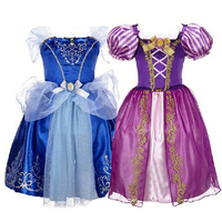 Princess Dresses Girls Dress Children Snow White Rapunzel Aurora Kids Party Halloween Costume Clothes Christmas Dresses