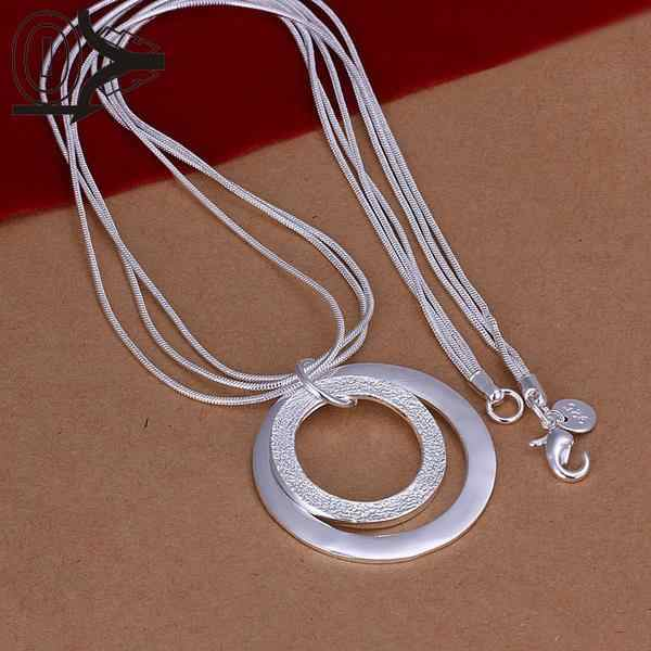 Wholesale Silver Plated Necklace & Pendant,Wedding Jewelry Accessories,Dual Sand O Fashion Silver Necklaces