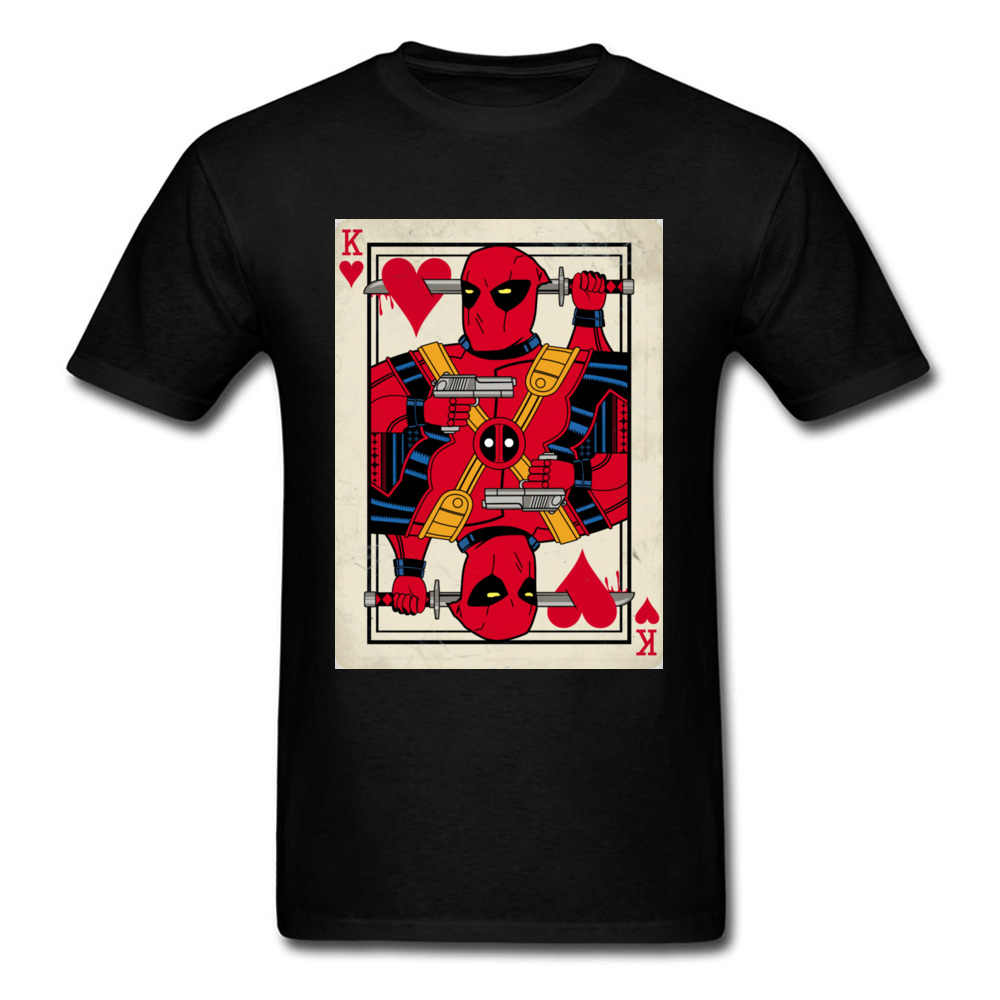 Дэдпул игральная карта 2018 Веселая Футболка дизайнер покер Джокер белая футболка мужская хлопковая одежда хип хоп Marvel футболка